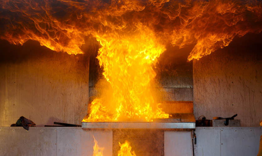Faulty gas stove explosion